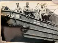 Peter Sturdgess aboard a DUKW amphibious truck,...