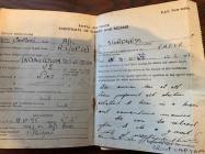 Peter Sturdgess Service and Release Book 1945...