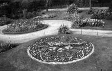 Floral Clock, Victoria Park, Swansea - August 1923