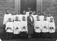 Straeon St Nicholas, Trefaldwyn - y Côr