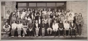 Students at Ifor Evans Hall, Aberystwyth 1971-72