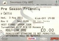 Swansea City FC match tickets, 2010's